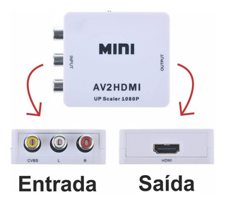 Adaptador Conversor Hdmi Para 3 Rca Audio Video Av Tv Tubo