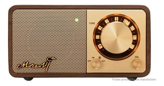 Rádio Sangean Mozart Fm Bluetooth Acabamento Em Madeira Belo