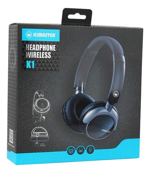 Headphone Bluetooth Com Entrada Micro Sd K1 Kimaster