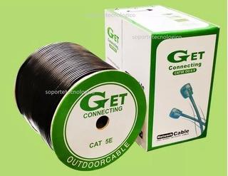 Cable Utp Categoria 5e Exterior Cctv Dvr Ip Camaras Redes.