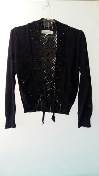 Sweater Mujer Saco Negro Jazmin Chebar Mujer T3 L