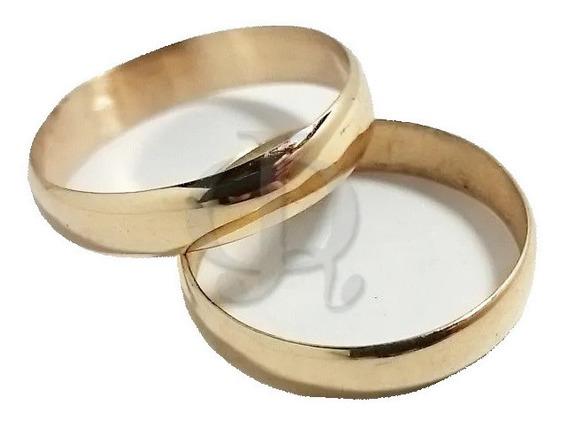 Par Alianzas Oro 18k Casamiento Grabados 4 Grs Garantia Jr
