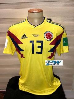 Camisa Da Seleção Da Colombia Copa 2018 #13 Y. Mina