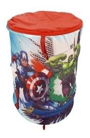 Porta Objetos Avengers Cesto Brinquedos Zippy Toys Original