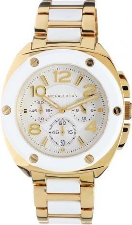 Relógio Michael Kors Tribeca Branco/dourado Mk5731 Original