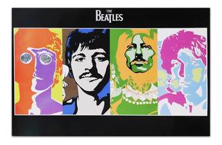 Beatles Arte Pop Cuadro Decorativo 28x40cm Moderno Música