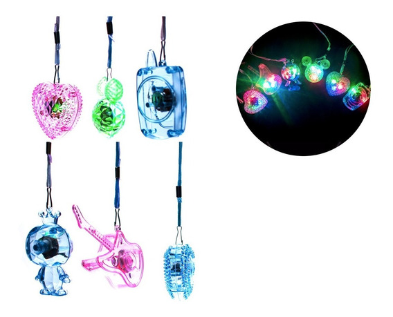 12 Collares Luz Led Luminoso Guitarra Fiestas Neon N69