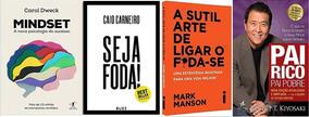 Mindset + Pai Rico Pai Pobre + Seja Foda! + 1 Livro