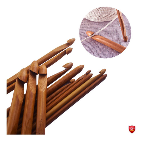 Agujas Bambu Tejer Crochet Kit 12 Und 3.0 A 10 Mm
