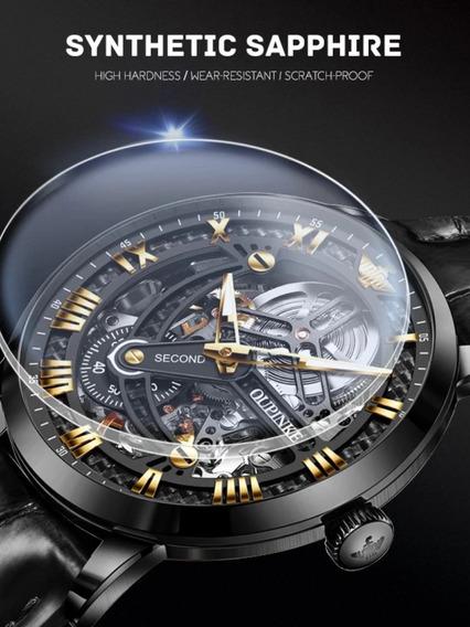 Relógio Oupinke Skeleton Automático