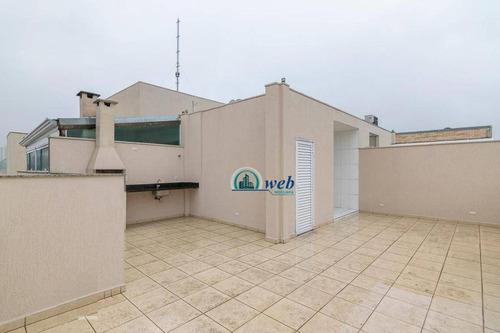Cobertura Com 2 Dormitórios À Venda, 130 M² Por R$ 614.000,00 - Vila Guiomar - Santo André/sp - Co0934