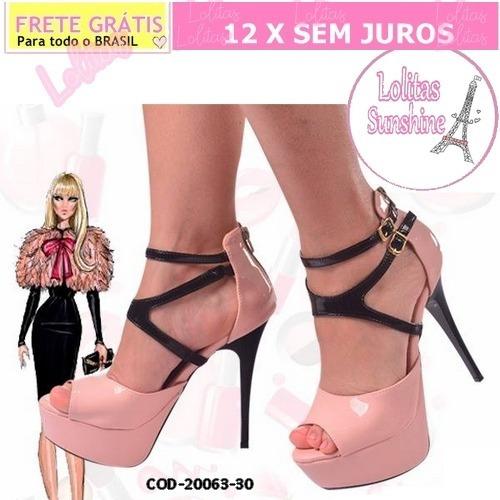 Sapato Scarpin-feminino-coleção Barbie-verniz Salto Alto30