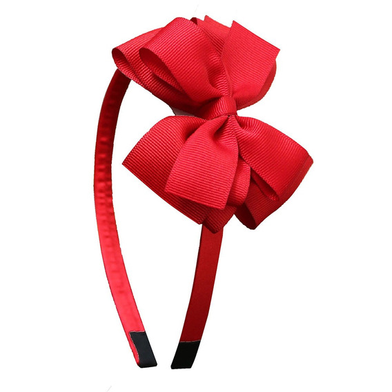 Diadema Roja Moño Rojo