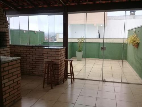 Cobertura À Venda, 89 M² Por R$ 310.000,00 - Vila Tibiriçá - Santo André/sp - Co0345