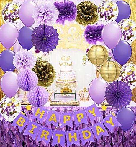 Pancarta De Cumpleaños Con Diseño De Globos De Confeti, Colo