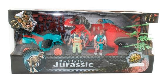 Dinosaurios 3 Figuras Play Set 1 Con Accesorios En Caja