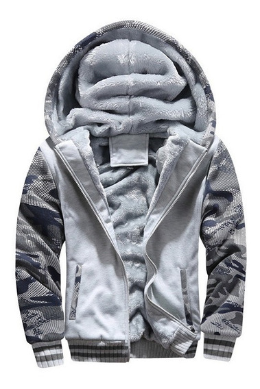 Casaco Jaqueta Blusa Slim Frio Camuflada Militar Masculina