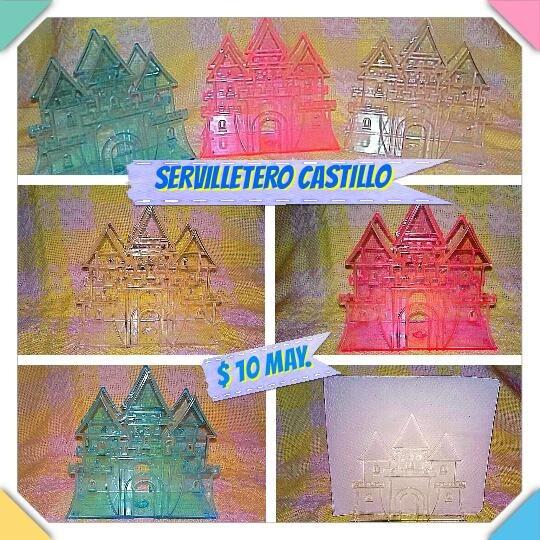 Servilletero De Castillo De Plástico Cristal