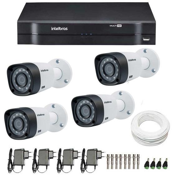 Kit 4 Câmeras Intelbras Hd