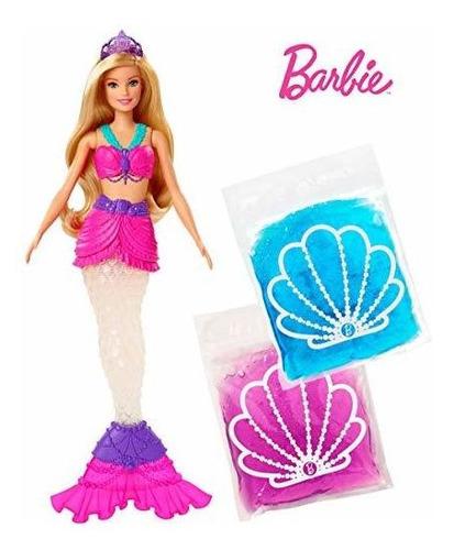 La Muñeca Barbie Dreamtopia Slime Mermaid Con 2 Paquetes De