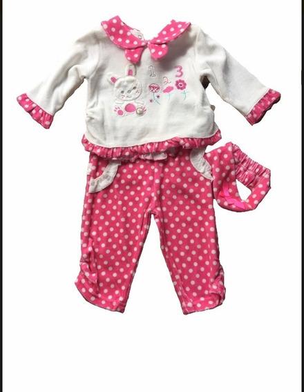 Pijama Coelho Para Bebê Fisher Price - Menina - Frete Grátis