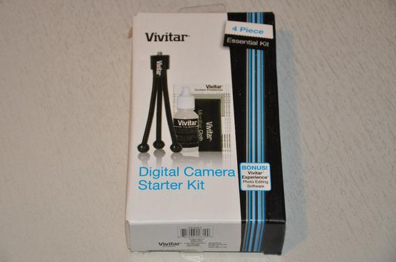 Conjunto Kit Com Acessórios Câmera Digital Vivitar Vivsck4