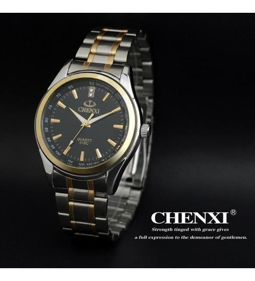 Relógio Masculino Chenxi Aço Inoxidável Luxo+caixinha