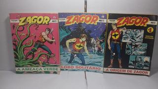 Gibi Hq Zagor Nº1, 2, 3, 6, 8, 10, 15 1989