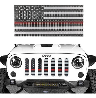Protector De Deflector De Rejilla Frontal Jeep Wrangler...