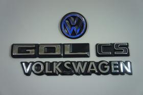 Kit Emblemas Volkswagen Cs Gol Vw Mala 83 À 90 + Brinde