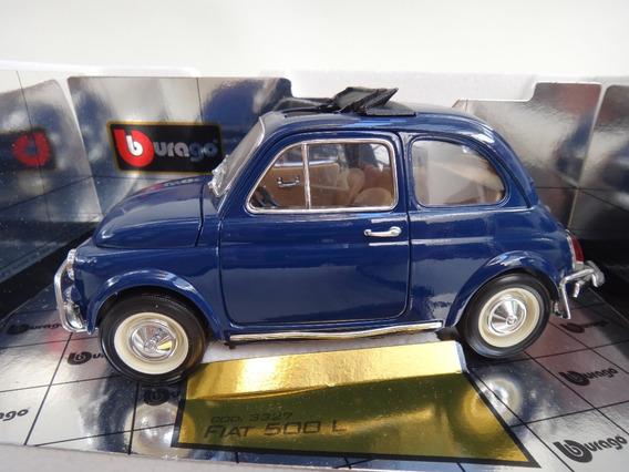 Fiat 500 Abarth 1965 1/16 Miniatura Bburago Na Caixa Teto