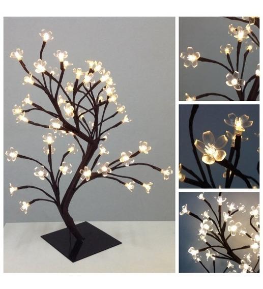 Árvore Decoração Luminária Flor Cerejeira Led Quente 127v