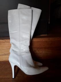 Botas Blancas De Cuero