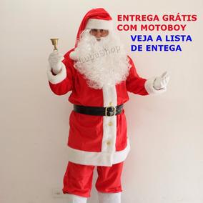 Roupa De Papai Noel Em Veludo Profissional 10 Itens Lindo