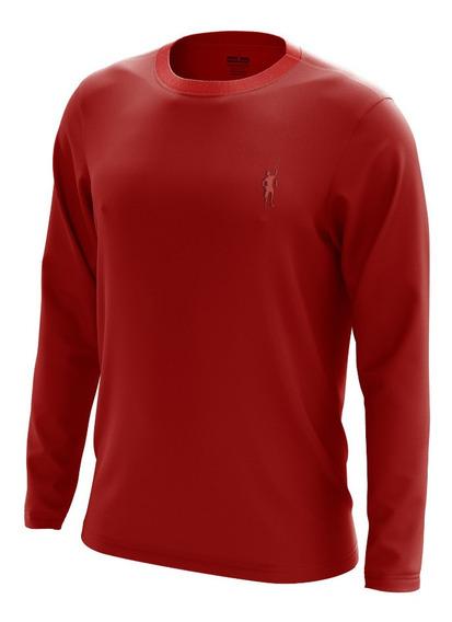 Camiseta Praia Segunda Pele Pescador (f) Vermelho Uv50+