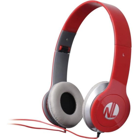 Fone De Ouvido Headphone Extreme Hs110nl Vermelho Newlink
