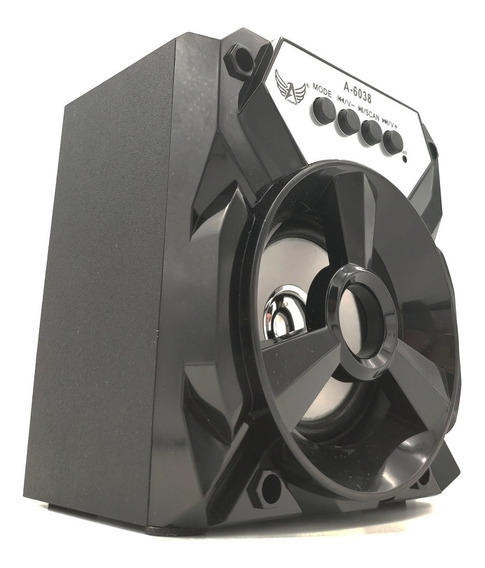 Caixa Som Portátil Amplificada Usb Mp3 Pendrive Radio Fm Aux