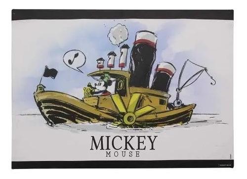 Quadro Canvas 70 X 50 Cm Mickey Barco A Vapor 10081071