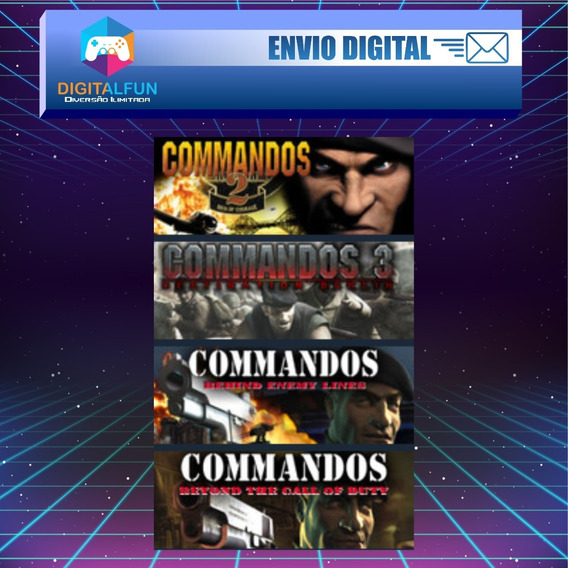 Commandos Collection ( 1 + Expan, 2 E 3) Envio Digital