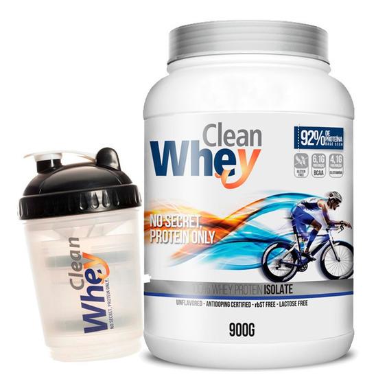 Clean Whey Isolado 92% De Pureza 900g + Coq.( Frete Gratis)