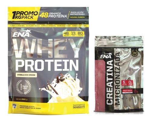 Promo Ena:whey Protein 80% + Creatina Monohidrato