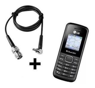 Celular Lg-b220 + Cabo Adaptador Da Antena Rural Desbloquead