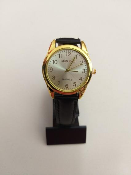 Relógio Feminino Preto Com Dourado
