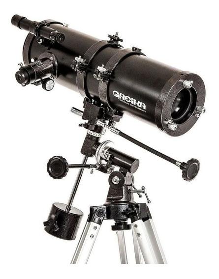 Telescópio Newtoniano Equatorial 1000x114mm Greika Com Tripé