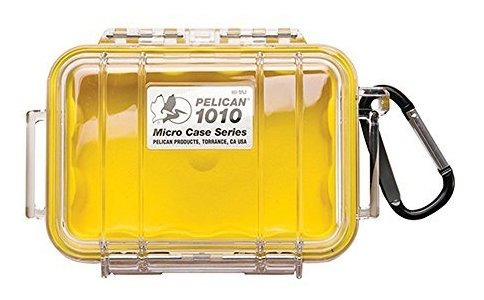Pelican 1010 Micro Case, Amarillo Con Tapa Transparente