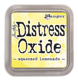 Tinta Distress Oxide Scrapbook Ranger Squeezed Lemonade