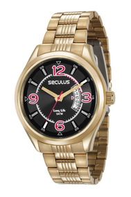 Relógio Masculino Seculus 23647gpsvda3 Promo Dia Do Namorado