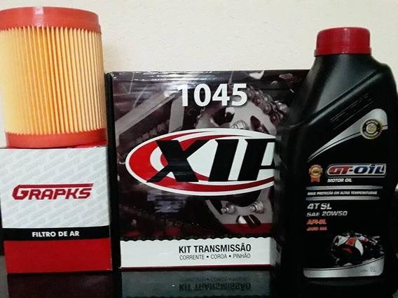 Kit Relação Titan 150 + Filtro De Ar + Óleo 20w50