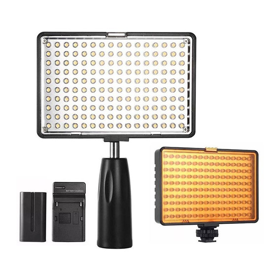Iluminador Led Foto E Video Light C/ Bateria Km-180s