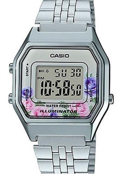 Relógio Casio Feminino Vintage Floral La680wa-4cdf-br